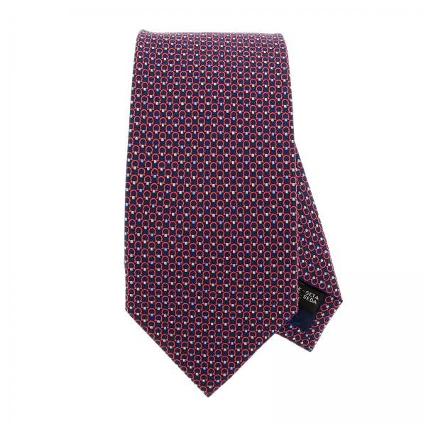 Pure silk tie 8 cm with all over Mediterranean hook pattern