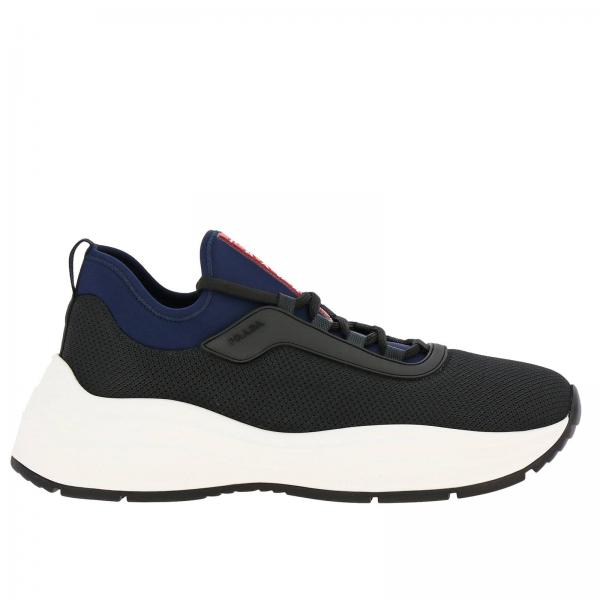 Sneakers Barca xl Prada in tessuto tecnico e neoprene con logo in gomma
