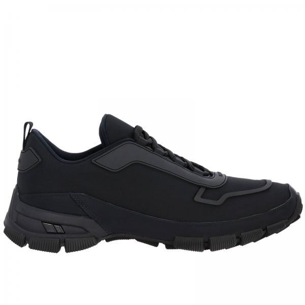 Sneakers Cross Section in nylon e gomma con logo Prada