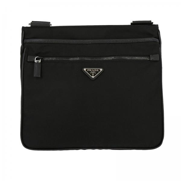 Prada shoulder bag in nylon with triangular logo