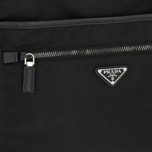 064 Tracolla Triangolare NeroIn Prada Con 2vh251 Nylon Logo Borsa A Uomo gybf76Y