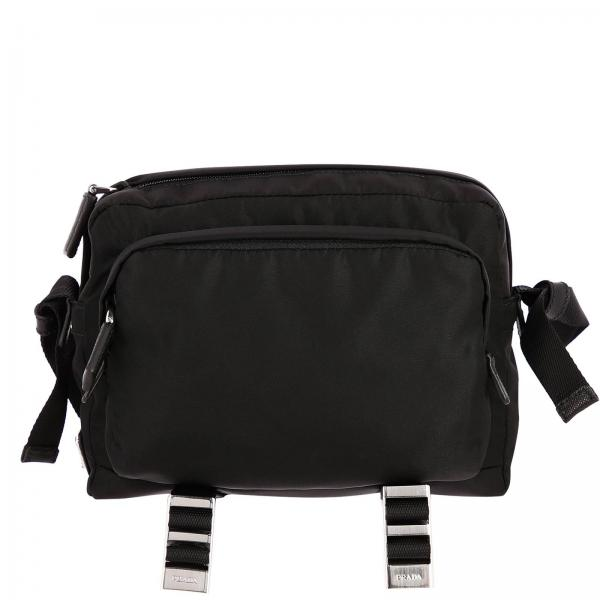 Bandolier Camera Nylon Bag with triangular Prada logo