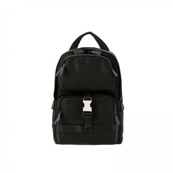 Рюкзак Prada small из нейлона с карманами и металлической пряжкой