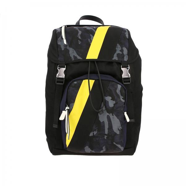 Рюкзак Prada из нейлона с деталями камуфляж контрастного цвета