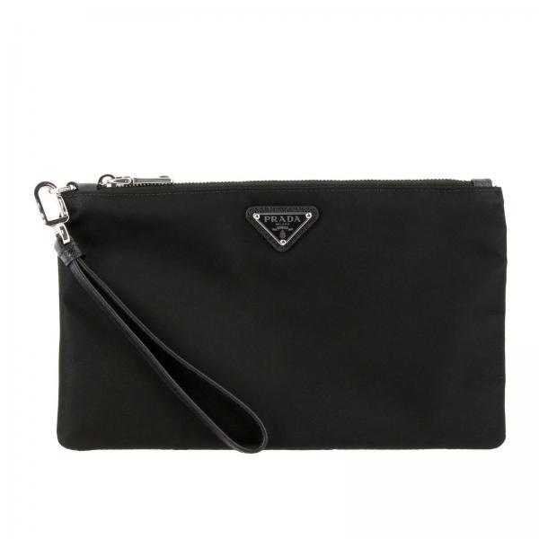 Prada Beauty Case aus Nylon mit dreieckigem Logo