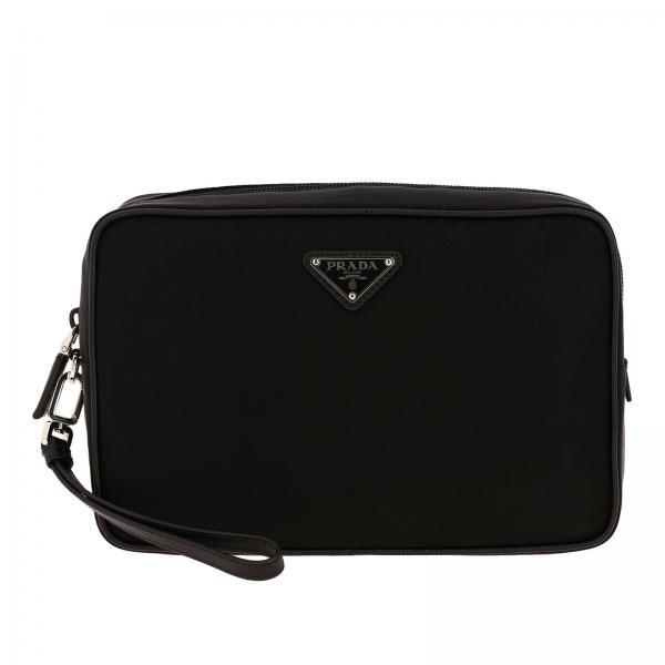 Mittelgroße Nylontasche mit dreieckigem Prada-Logo