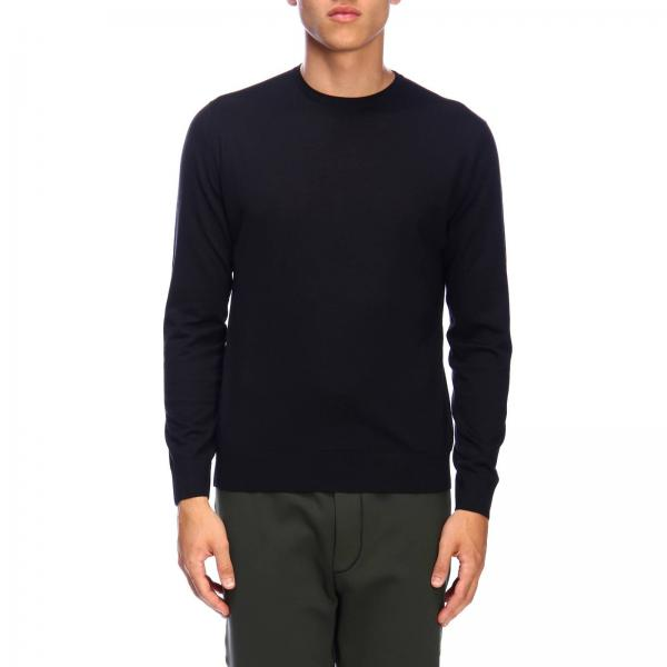 Prada knit jumper in worsted wool with a fineness of 30