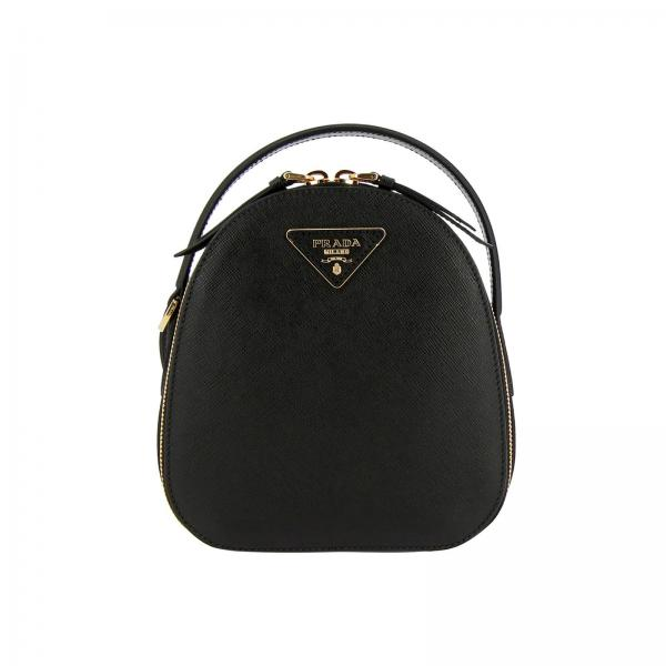 Odette Prada mini saffiano leather backpack with triangular logo
