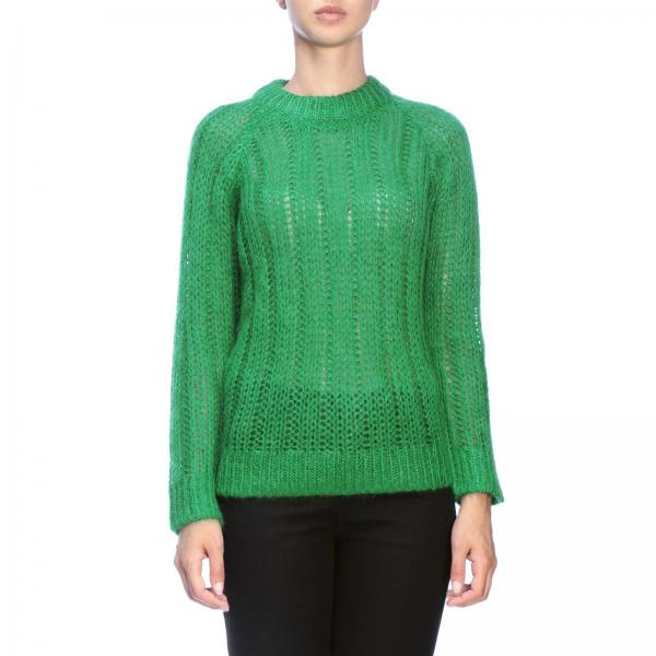 Prada crew-neck pullover in ribbed mohair wool