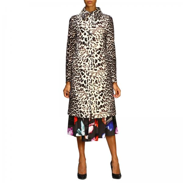 Prada coat in animalier gabardine