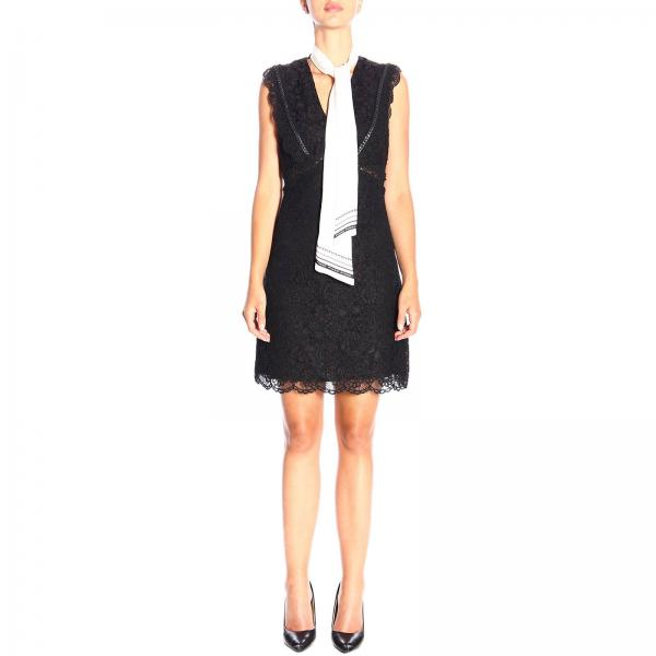 Ninnare Pinko lace dress with foulard collar
