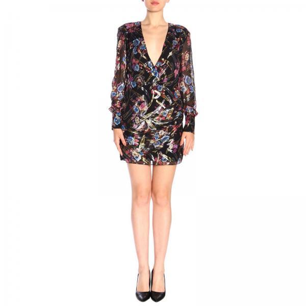 Stupefare Pinko short fil coupe dress with floral pattern