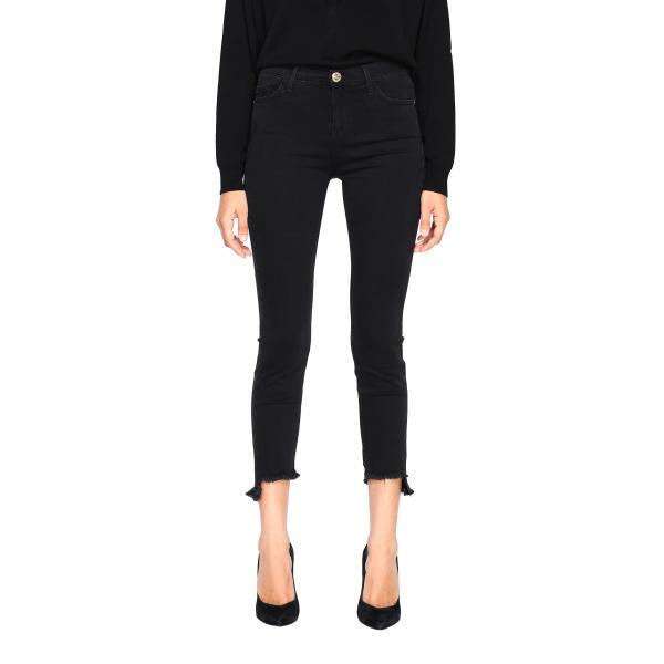 Sabrina 3 Pinko skinny denim jeans with fringed hem