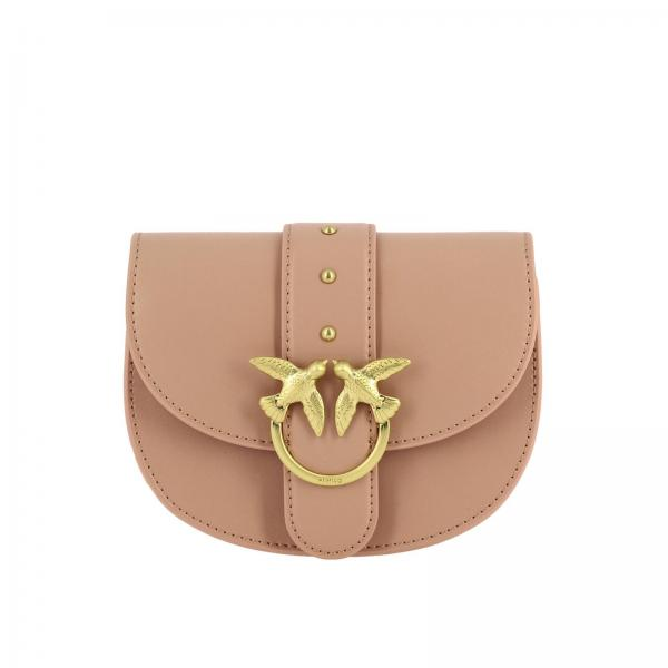 Pinko Baby round love simply belt bag in leather