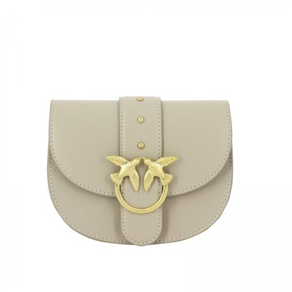 Pinko Baby round love simply leather belt bag