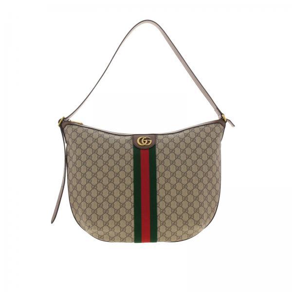Borsa Ophidia Hobo GG Supreme Gucci con fascia Web e monogramma