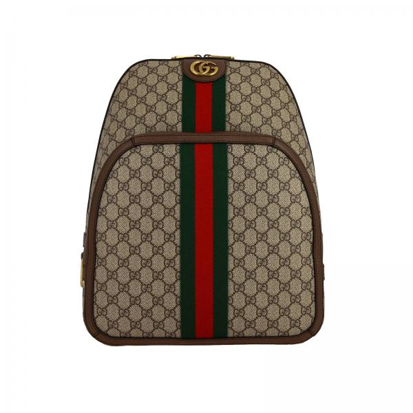 Ophidia GG Supreme Gucci backpack in leather with Web band