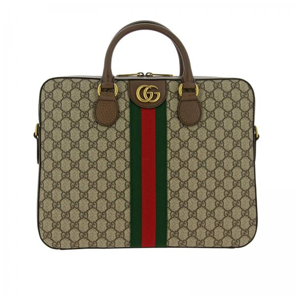Ophidia Gucci Briefcase with GG Supreme monogram