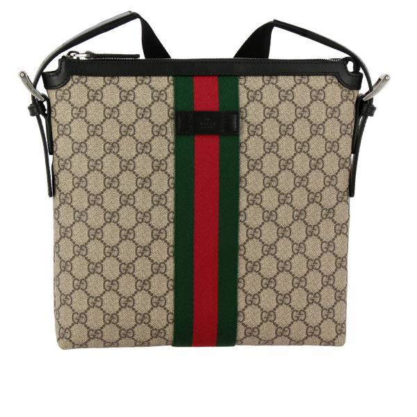 Gucci Supreme bag with Web band