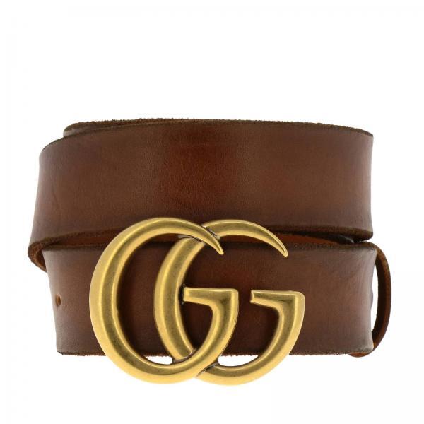 miglior sito web be0d0 4da18 Cintura in pelle vintage con monogramma gg marmont gucci