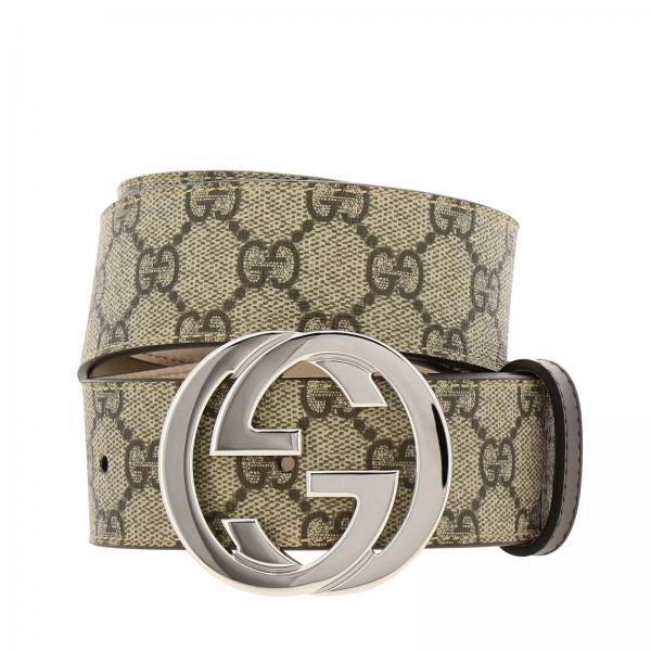 elegante taglia 7 qualità affidabile Cintura in pelle gg supreme gucci con fibbia interlocking