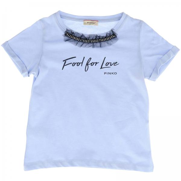 T-shirt Ferroviere Pinko à manches courtes et maxi impression