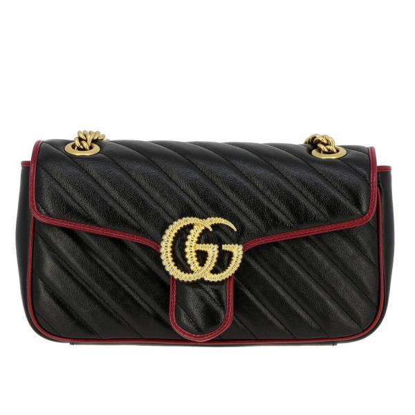 Borsa GG Marmont Gucci in pelle trapuntata con piping