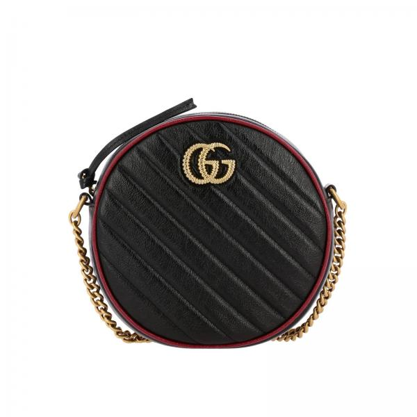 GG Marmont Gucci quilted leather disco bag with piping