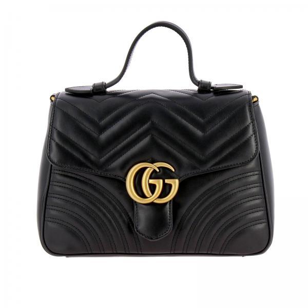Borsa GG Marmont Gucci small in pelle trapuntata con tracolla