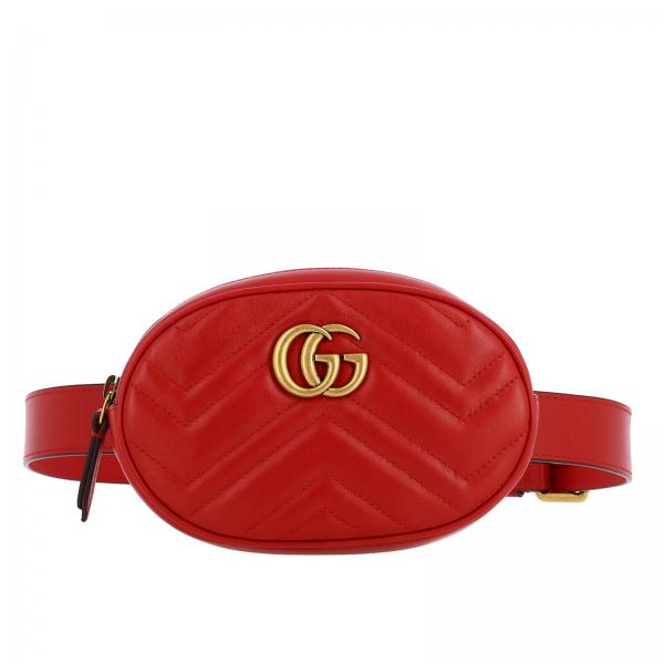 GG Marmont Gucci leather pouch in quilted chevron