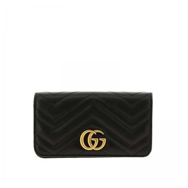 GG Marmont Gucci genuine quilted leather handbag with chevron pattern