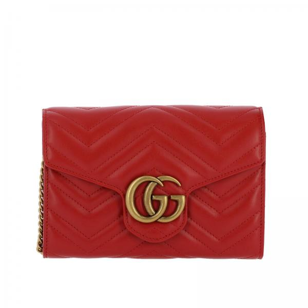 GG Marmont Gucci quilted leather bag with chevron pattern