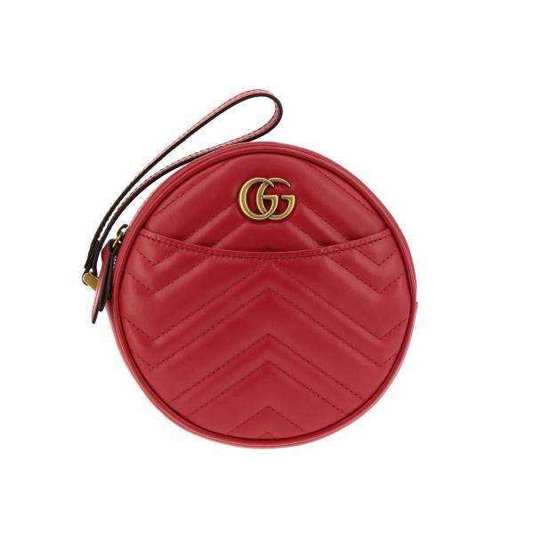 GG Marmont Gucci quilted leather disco bag  with chevron pattern