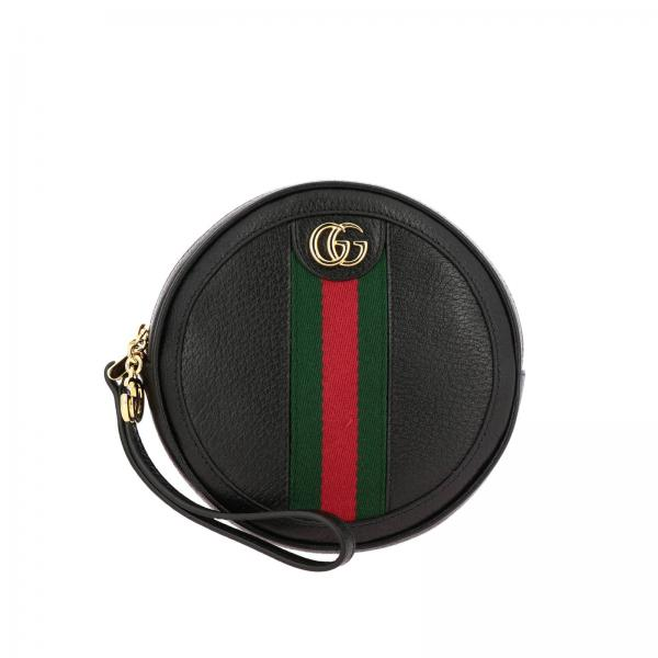 Ophidia Gucci  leather disco bag with web band