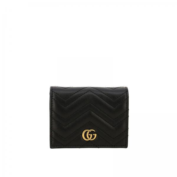 Portafoglio GG Marmont in pelle trapuntata con porta monete e monogramma Gucci