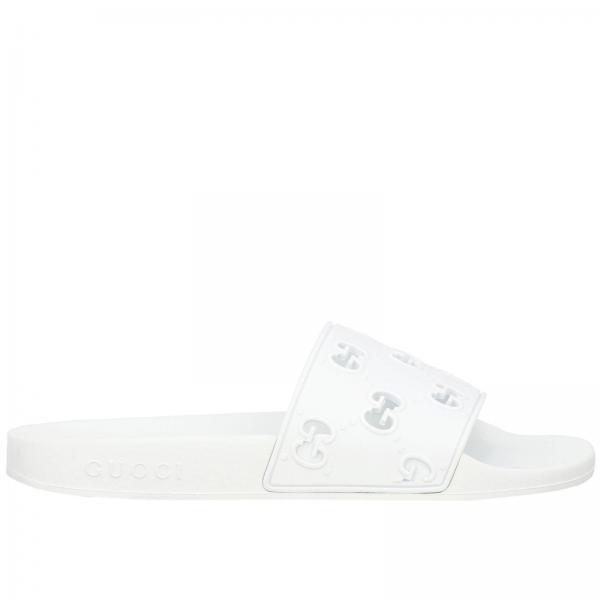 Sandalo Pursuit a ciabatta con fascia in gomma e monogramma GG Gucci traforato