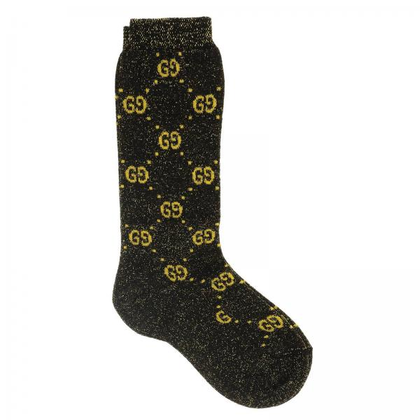 Gucci socks in lurex terry with GG logo all over