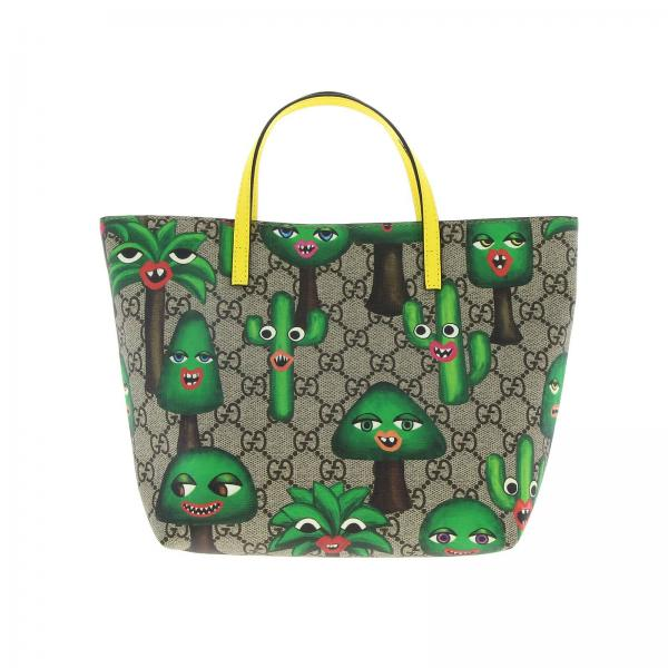 Gucci GG Supreme Shopping Bag with cactus print