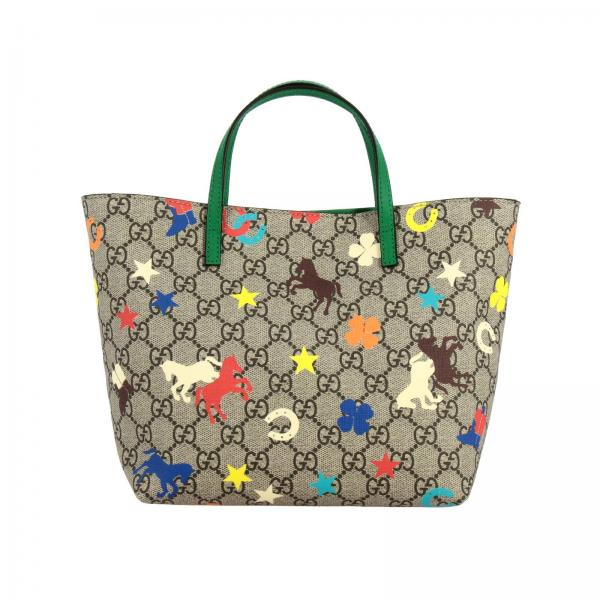 Mini bolso shopping con estampado de rodeo y monograma GG Supreme Gucci