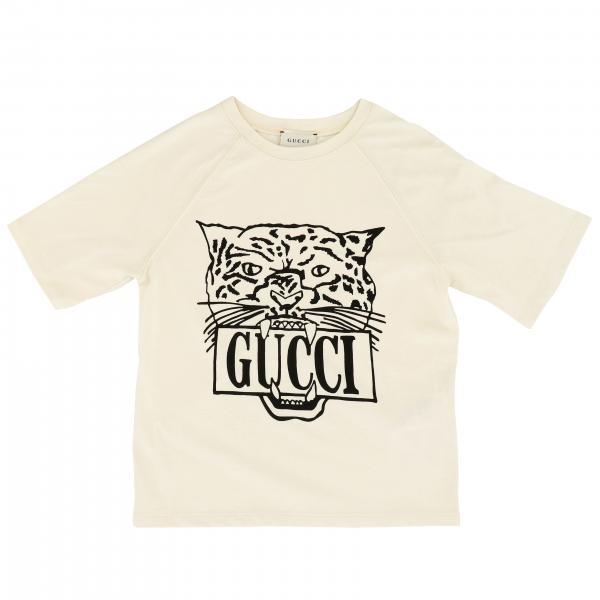 T-shirt Gucci a maniche corte con maxi stampa tigre