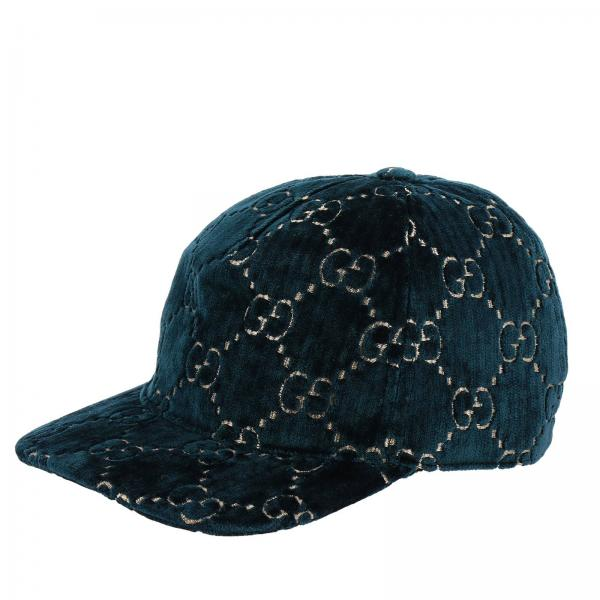 Cappello Gucci in velluto con monogramma GG Supreme all over