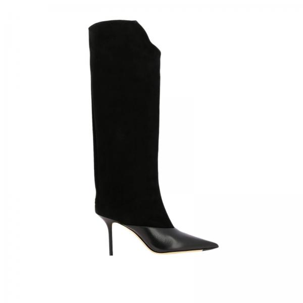 Brelan Jimmy Choo high boots in leather and suede