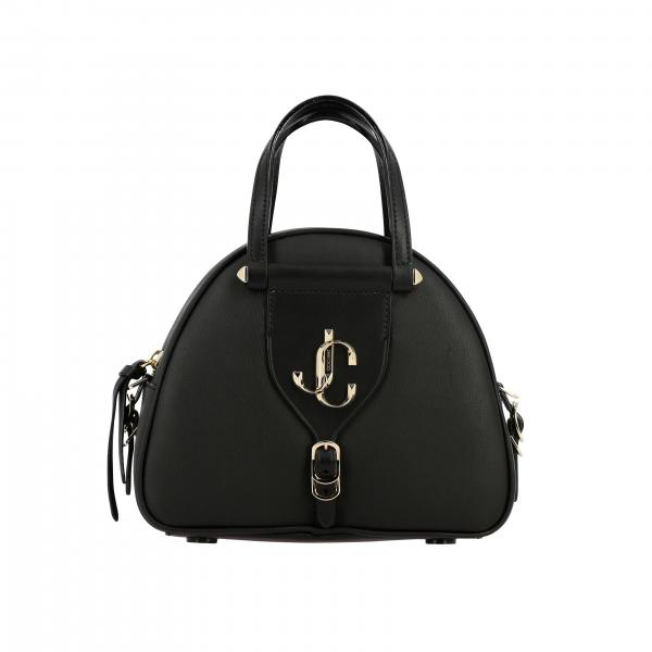 Varenne bowling bag Jimmy Choo in leather with logo and shoulder strap