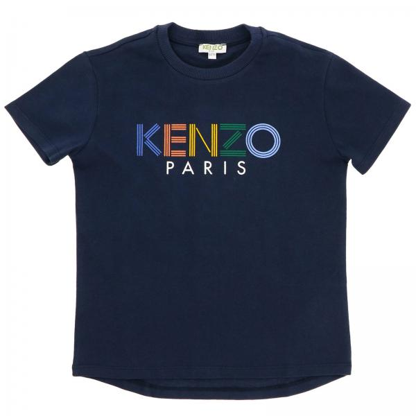 Kenzo Junior short-sleeved T-shirt with maxi logo