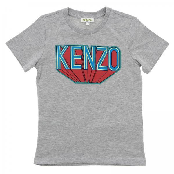 T-shirt Kenzo Junior a maniche corte con maxi logo supereroe
