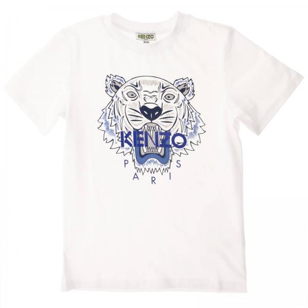 T-shirt Kenzo Junior a maniche corte con maxi logo Tiger Kenzo Paris