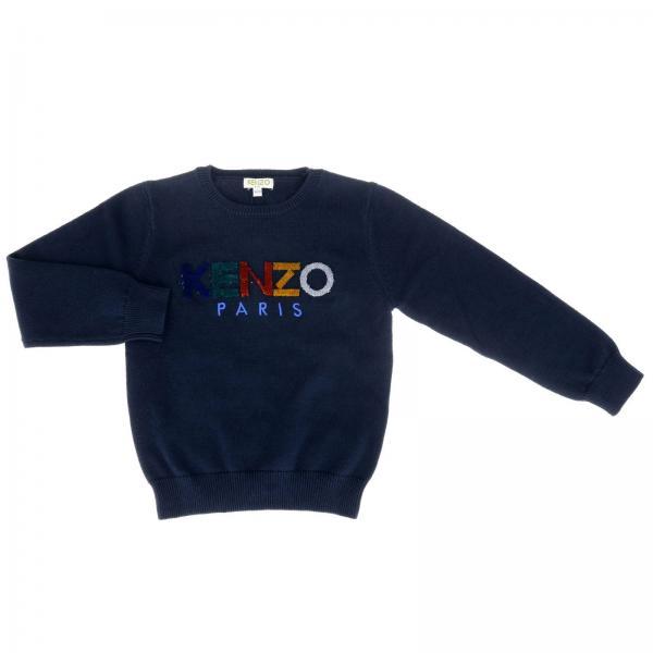 Pullover Kenzo Junior a maniche lunghe con maxi logo Kenzo Paris