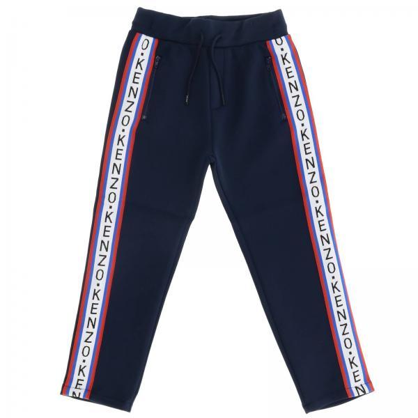 Pantalone Kenzo Junior jogging stretch con bande logate