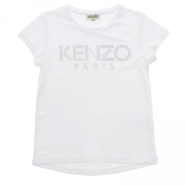 T-shirt Kenzo Junior a maniche corte con maxi logo