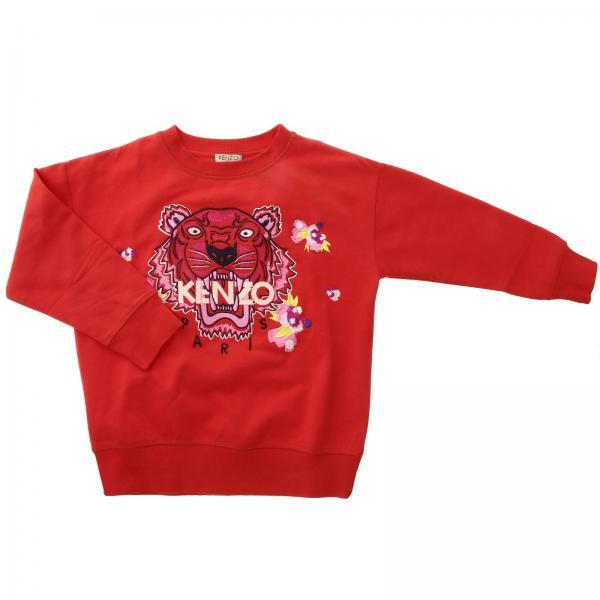 Felpa Kenzo Junior a girocollo con maxi logo Tiger Kenzo Paris